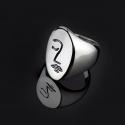 Кольцо с гравировкой Moon Paris Ringo