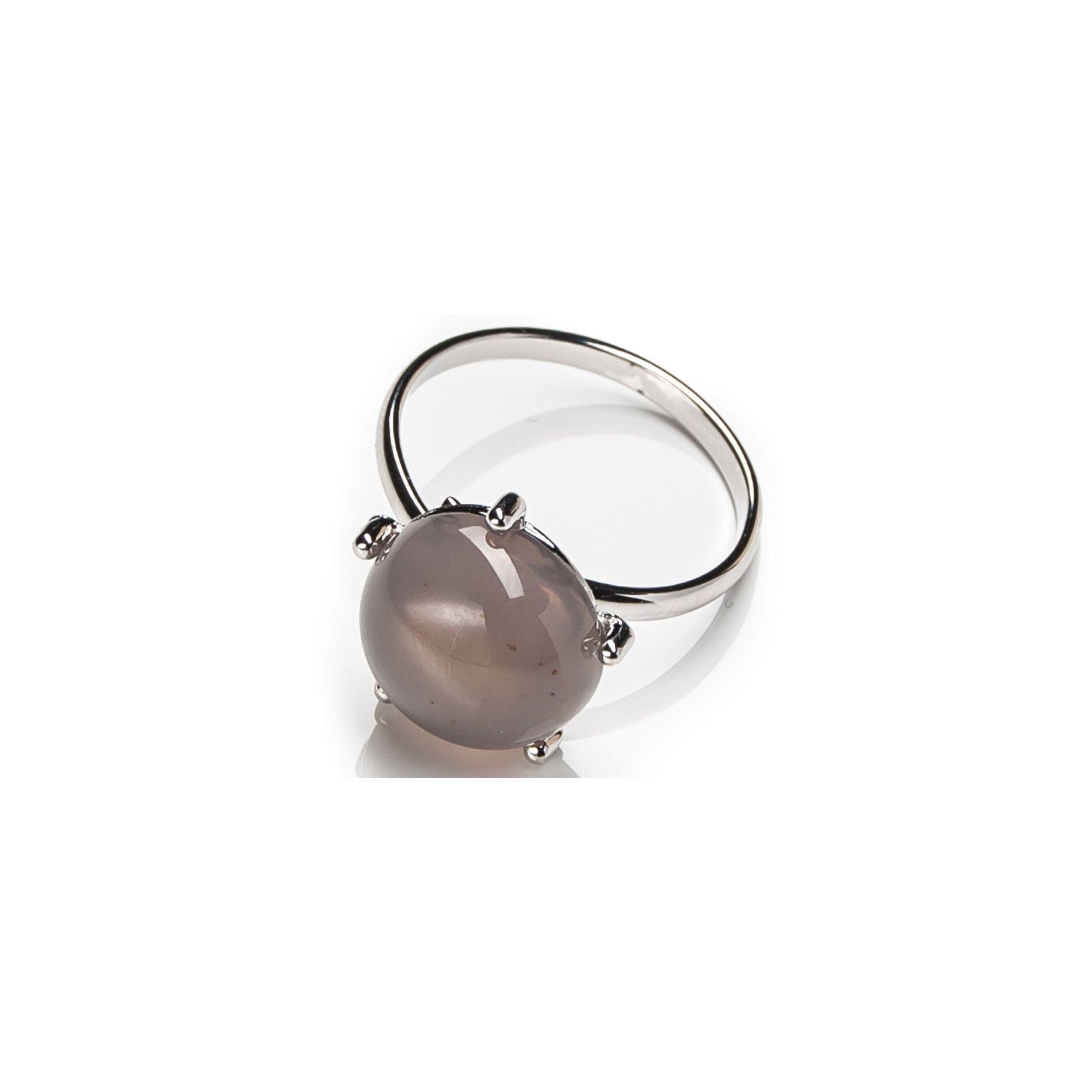 Кольцо с серым халцедоном Lanzerotti Castello
