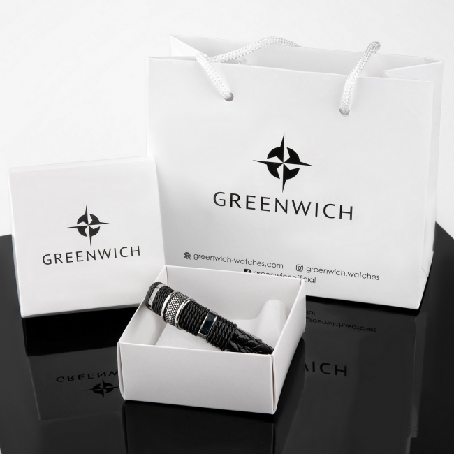 Браслет Greenwich Черный Оникс
