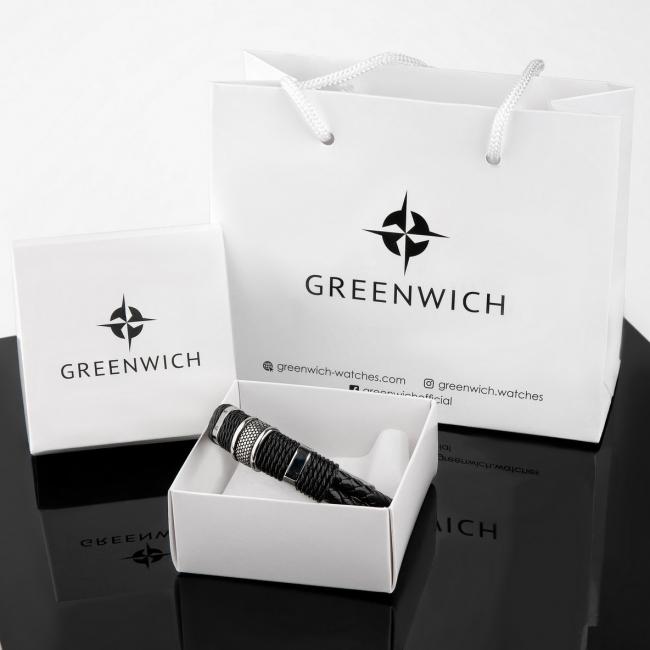 Браслет Greenwich Черная Лава